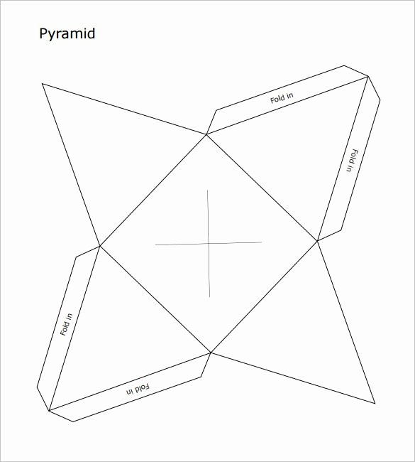 Triangle Foldable Template Beautiful Pyramid Box Template 15 Free Sample Example format