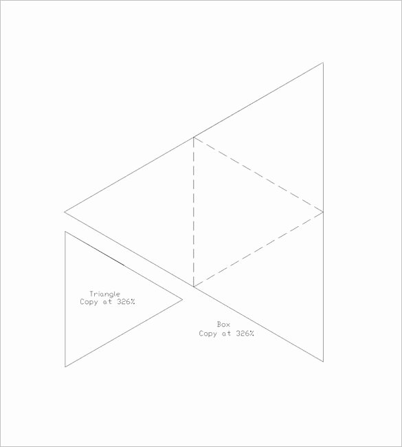 Triangle Foldable Template Elegant 9 Triangle Box Templates Doc Pdf