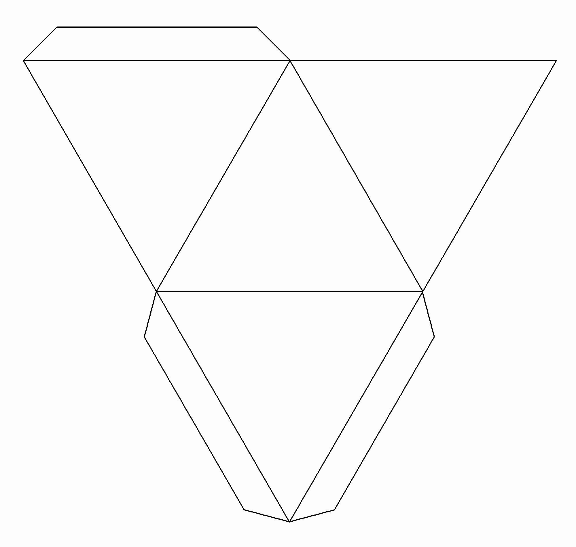 Triangle Foldable Template Elegant Decora Con Pirámides Tutéate