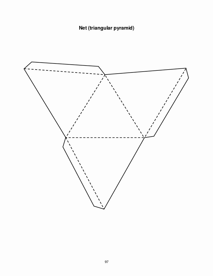 Triangle Foldable Template Luxury Triangular Pyramid Template