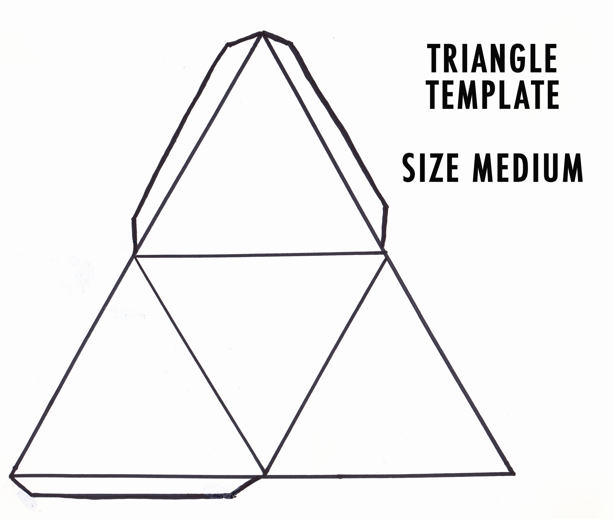 Triangle Foldable Template New Diy 3d Geometric Paper Sculpture