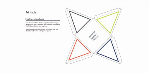 Triangle Foldable Template New Fice 365 Subscriber Templates