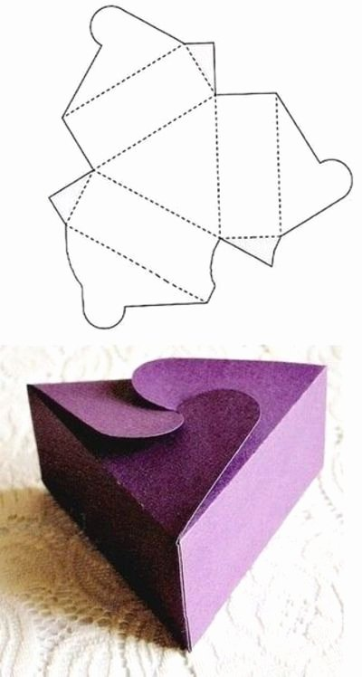 Triangle Foldable Template New Paper Box Template Crafts Diy Juxtapost