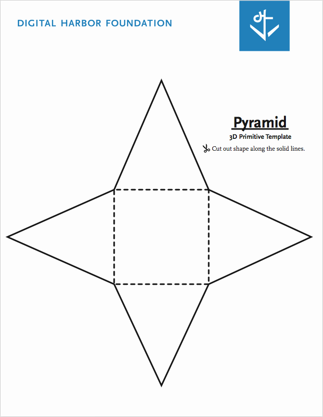 Triangle Foldable Template Unique Pyramid Primitive Template Free Pdf Download by Dhf