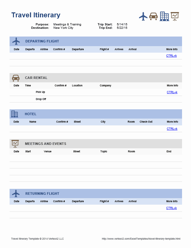 Trip Itinerary Template Google Docs Best Of Download the Travel Itinerary Template From Vertex42