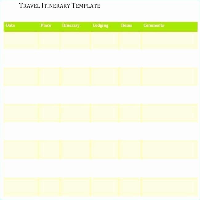 Trip Itinerary Template Google Docs Inspirational Example Itinerary Template Doc Word Document Excel E