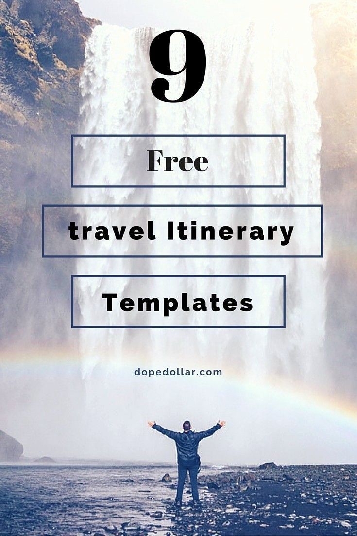 Trip Itinerary Template Google Docs Lovely Free Travel Itinerary Templates for Travel Flight