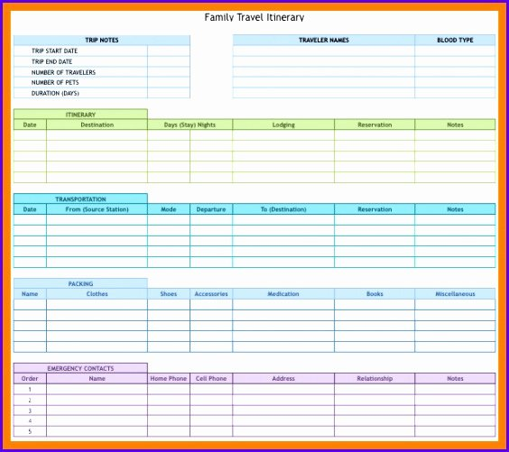 Trip Planner Template Excel Beautiful 12 Travel Schedule Template Excel Exceltemplates