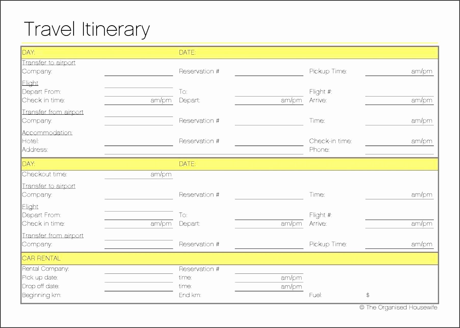 Trip Planner Template Excel Beautiful 4 Free Vacation Planner In Excel Sampletemplatess