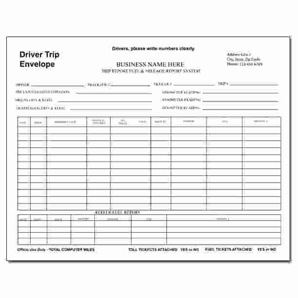 Trip Sheet for Truck Driver Unique 29 Of Truck Trip Report Template