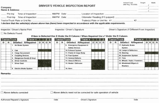 Trip Sheets for Truck Drivers New Tractor Trailer
