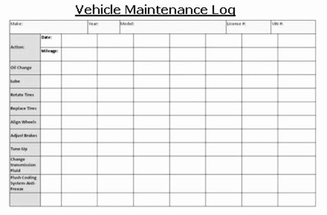 Truck Driver Log Book Excel Template Best Of Truck Maintenance Log