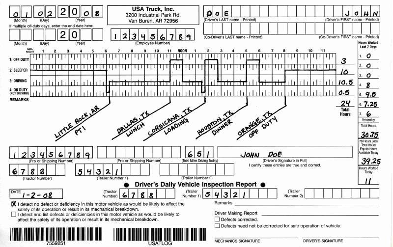 Truck Driver Log Book Excel Template Elegant Question About Hos Logbook Dodge Cummins Diesel forum