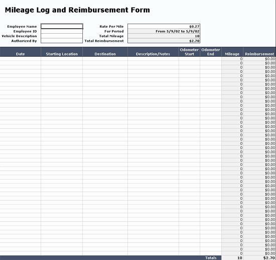 Truck Driver Log Book Excel Template Fresh Mileage Log Template