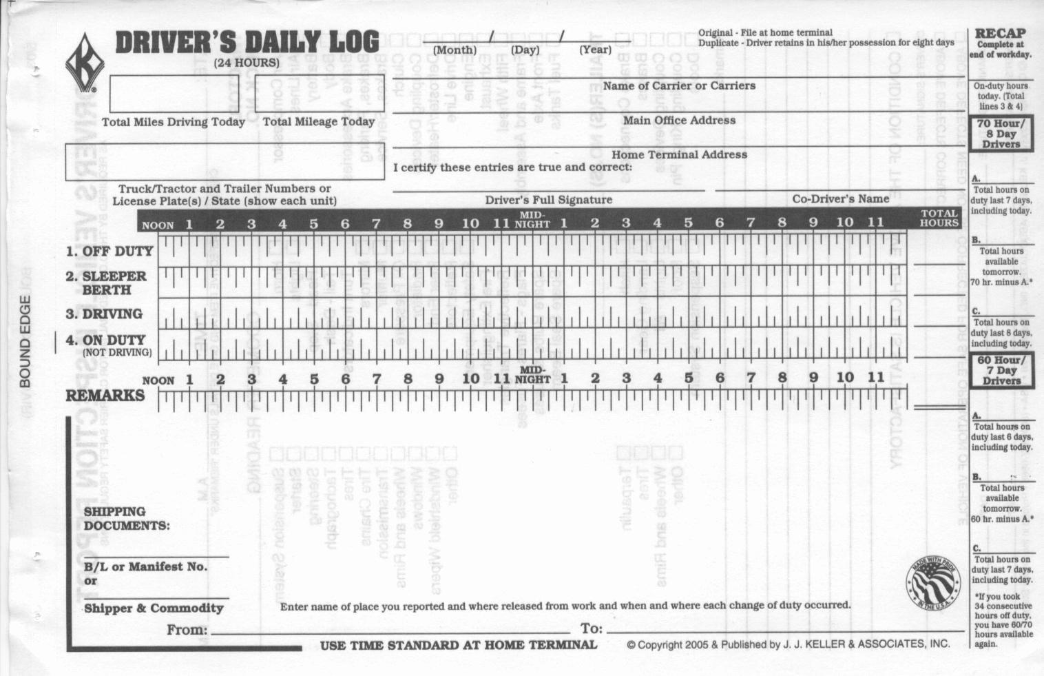Truck Driver Log Book Excel Template Fresh Truck Driver Log Book Template