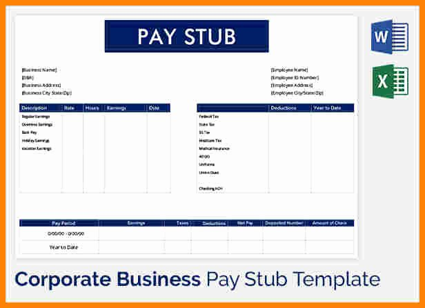 Truck Driver Pay Stub Template Awesome 5 Truck Driver Pay Stub Template