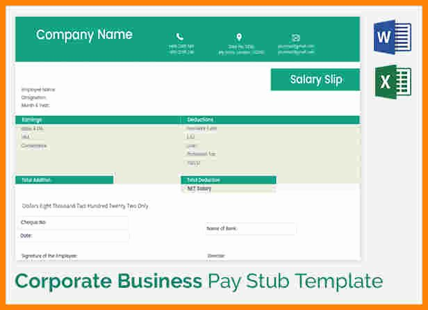 Truck Driver Pay Stub Template Inspirational 5 Truck Driver Pay Stub Template