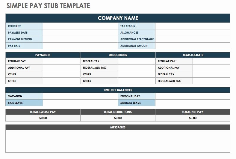 Truck Driver Pay Stub Template Inspirational Free Pay Stub Templates