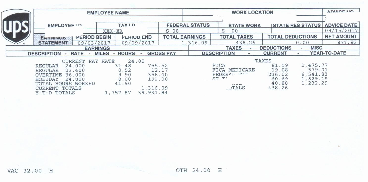 Truck Driver Pay Stub Template Luxury Ups Freight Diary Page 38