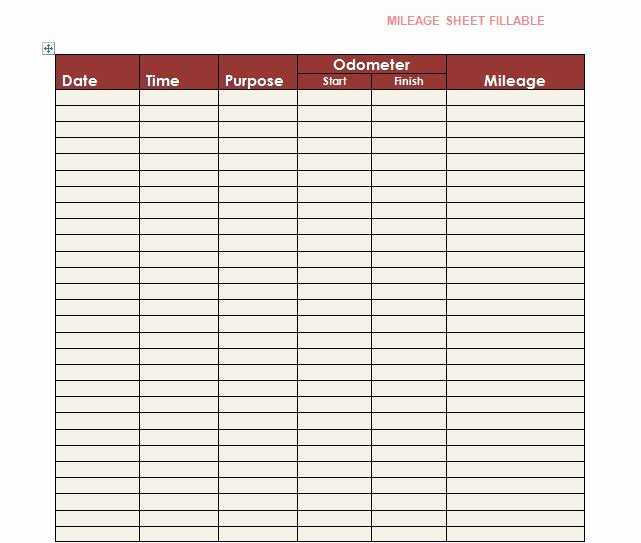 Truck Drivers Trip Sheet Template Unique 30 Printable Mileage Log Templates Free Template Lab