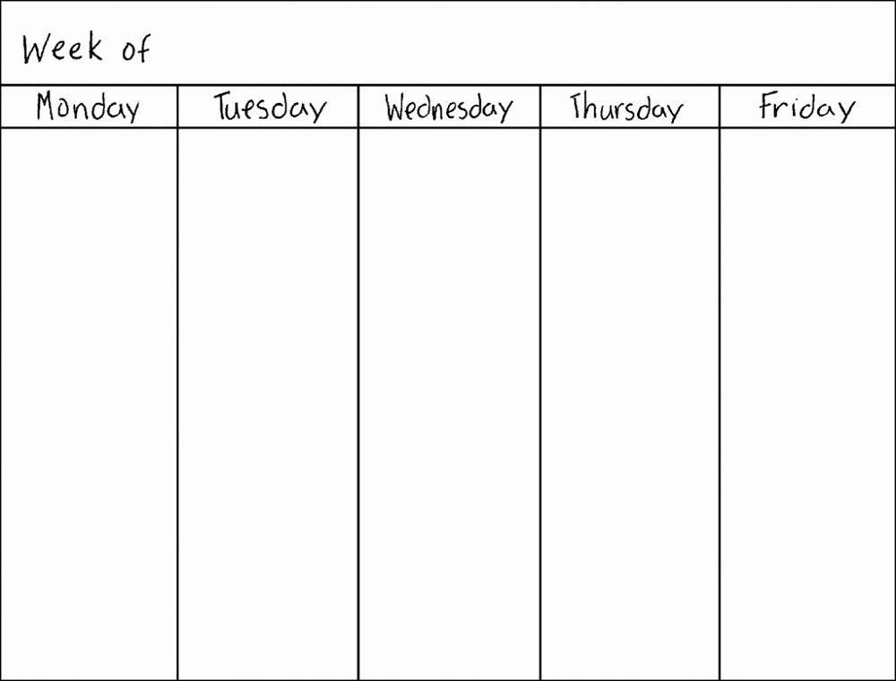 Two Week Calendar Template Inspirational Blank Weekly Calendars Printable