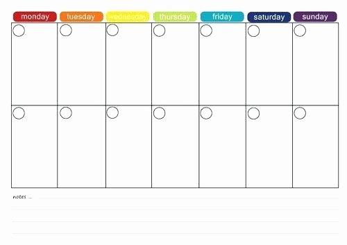 Two Week Calendar Template Inspirational Two Week Calendar Template – Rightclicktechfo
