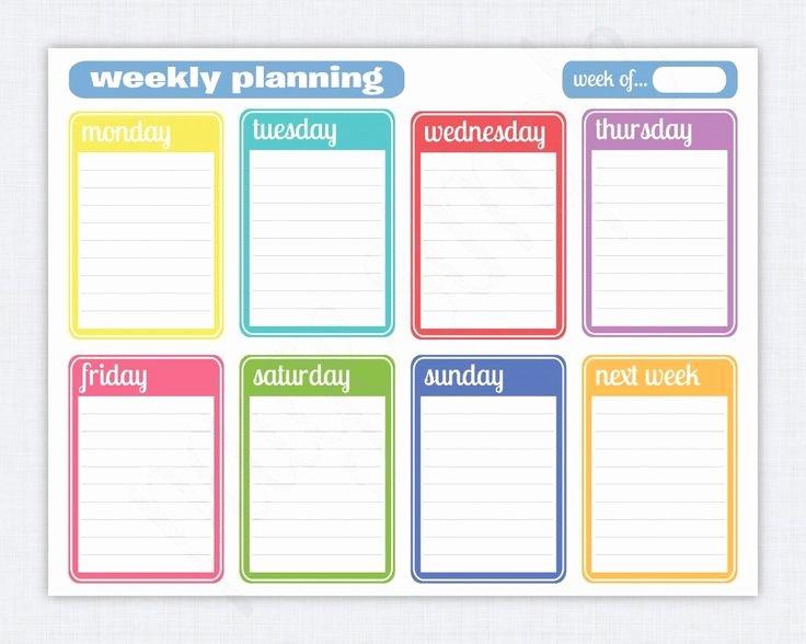 Two Week Calendar Template New Best 25 Weekly Calendar Template Ideas On Pinterest