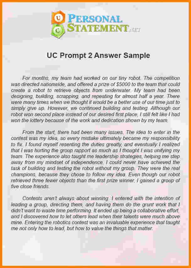 Uc Application Personal Statements Awesome 11 Uc Application Personal Statement