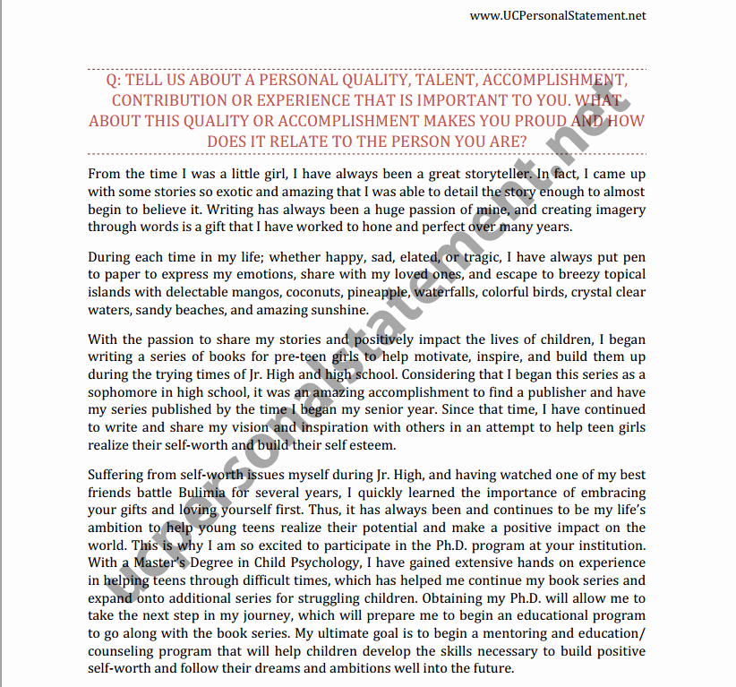 Uc Application Personal Statements Fresh Uc Personal Statement Prompt 2 Writing Service