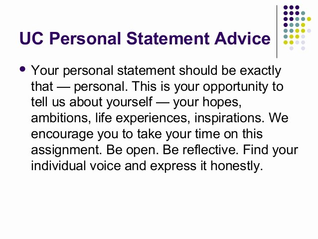 Uc Application Personal Statements Luxury 2013 Tell Your Personal Story Advice for University Of Ca