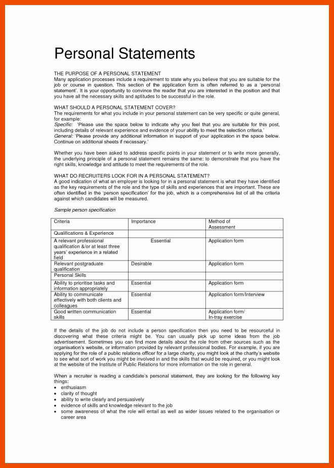 Uc Application Personal Statements Luxury 3 4 Example Of Statement