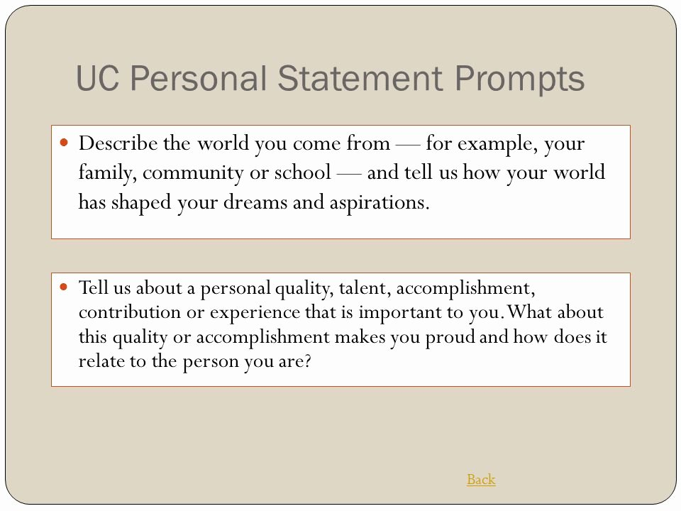 Uc Application Personal Statements Luxury Tips for College Bound Students Ppt