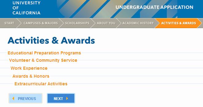 Uc Application Personal Statements Luxury Uc Application Iii Activities & Awards