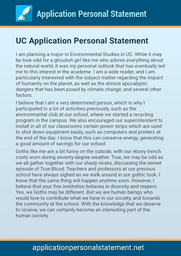 Uc Application Personal Statements Unique Uc Professional Application Personal Statement