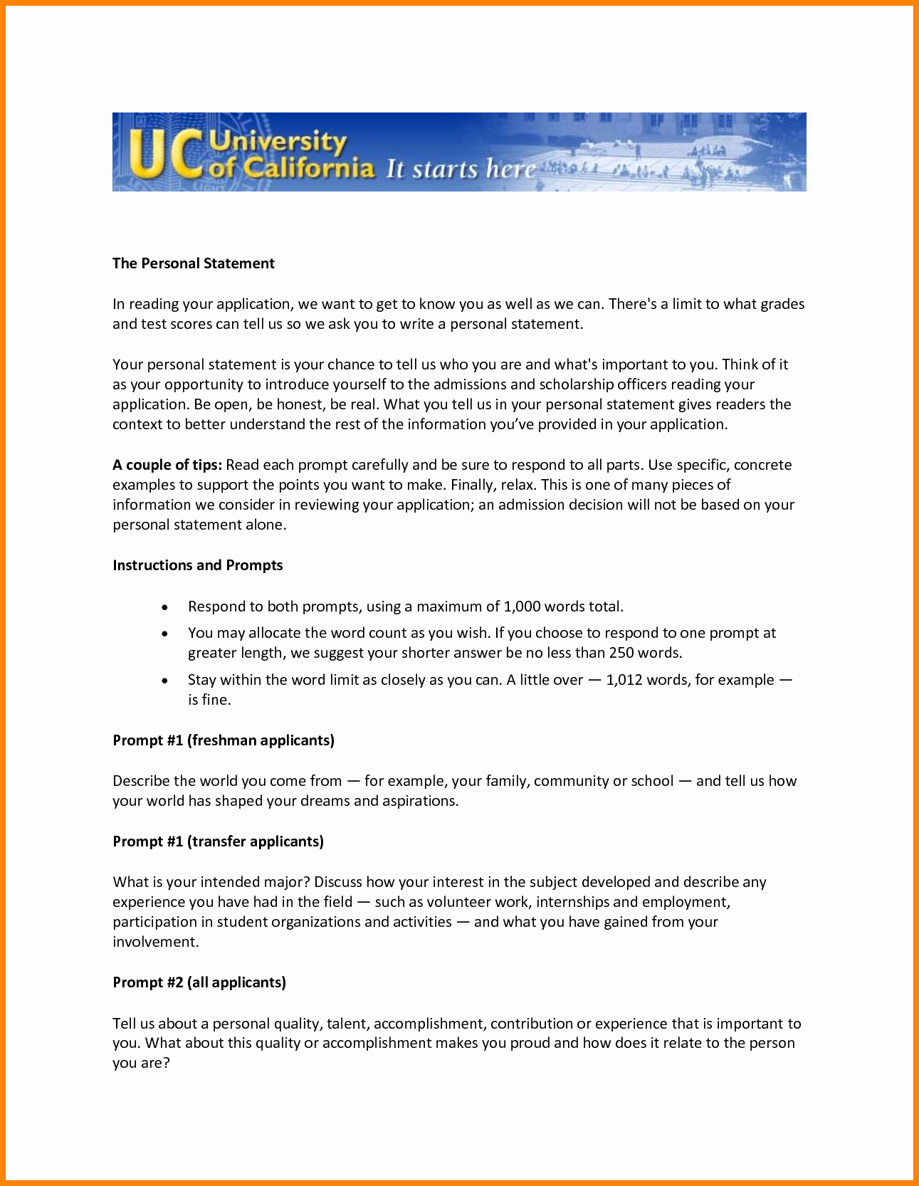 Uc Personal Statement Sample Essays Lovely 10 Uc Personal Statement Examples