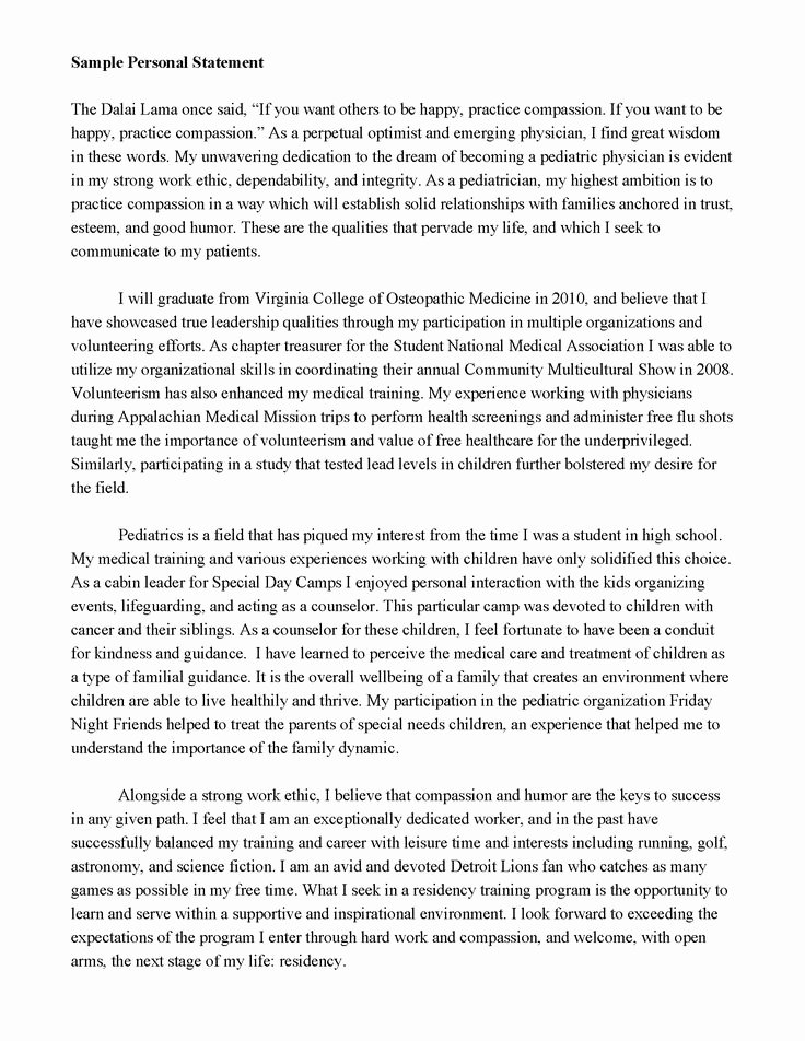 Uc Personal Statement Sample Essays Lovely Good Personal Statements for Graduate School Salisbury