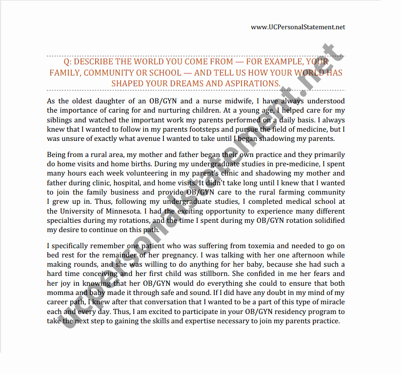 Uc Personal Statement Sample Essays New Uc Personal Statement Prompt 2 Writing Service