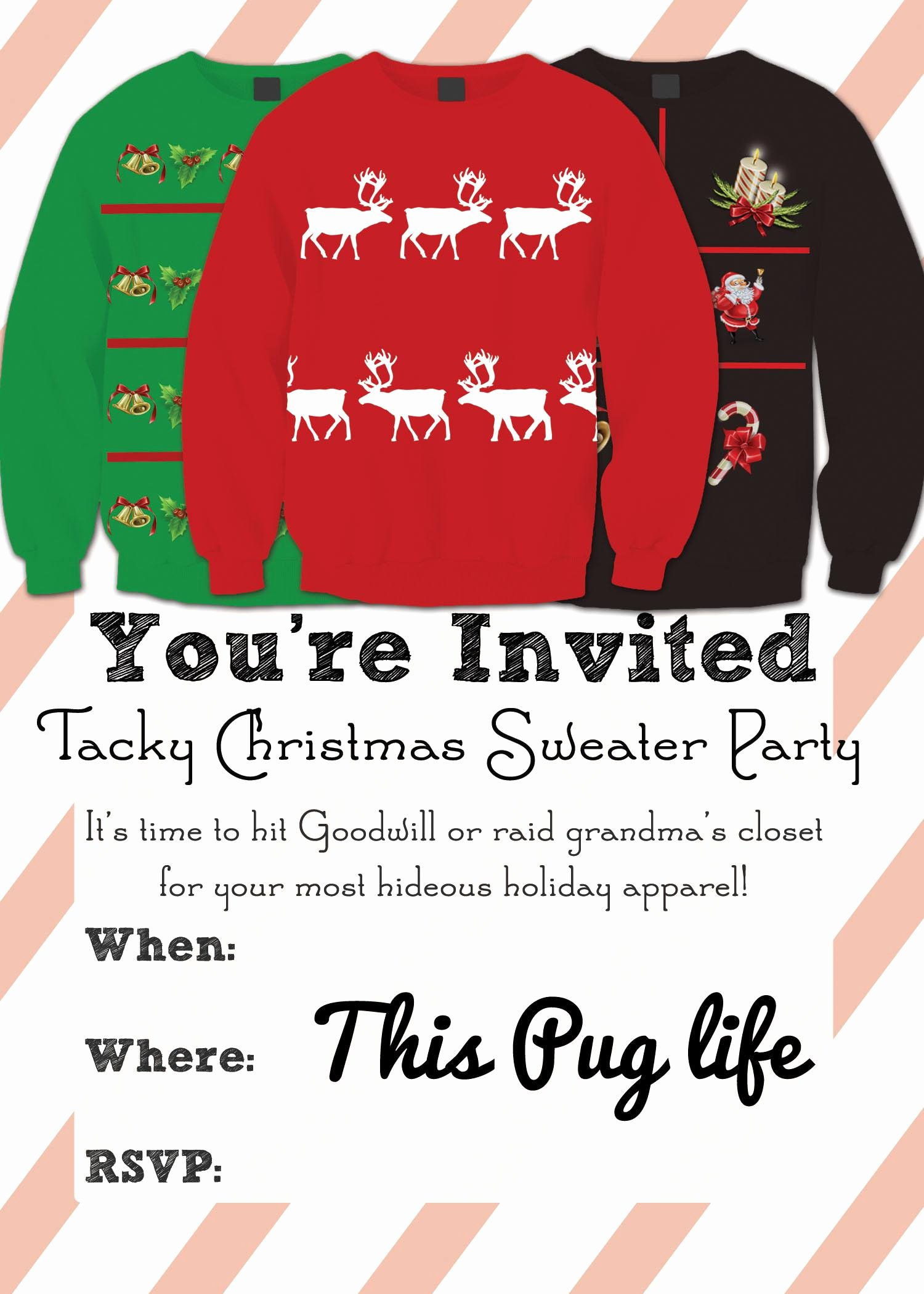 Ugly Sweater Invitation Template Free Awesome Baptism Invitation Invitation Card for Baptism Superb