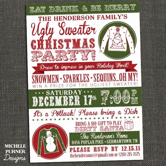 Ugly Sweater Invitation Template Free Beautiful Items Similar to Ugly Sweater Christmas Party Invitation