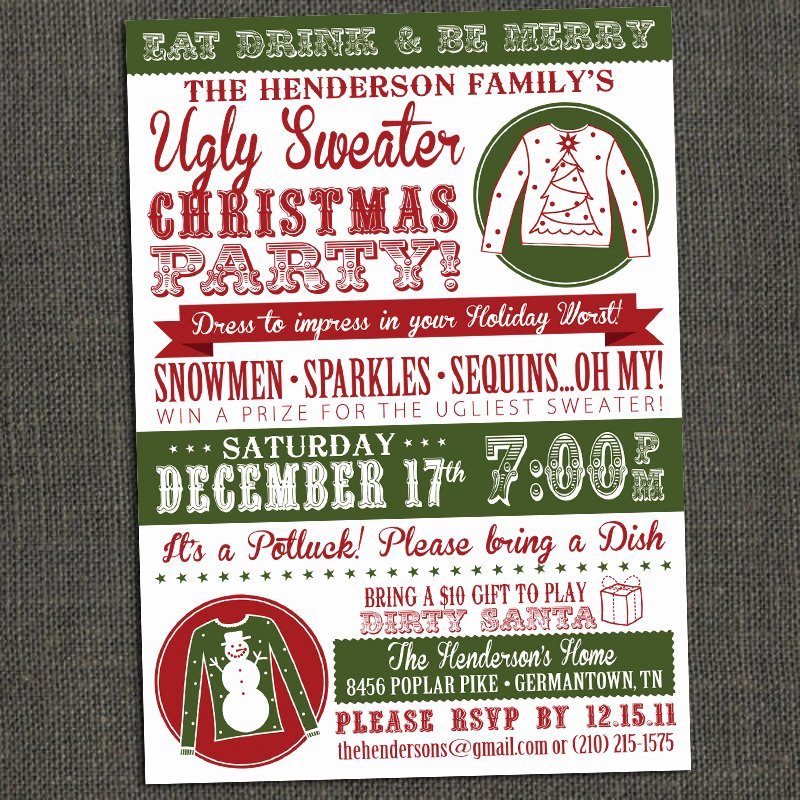 Ugly Sweater Invitation Template Free Best Of Ugly Sweater Party Invitation Template Free