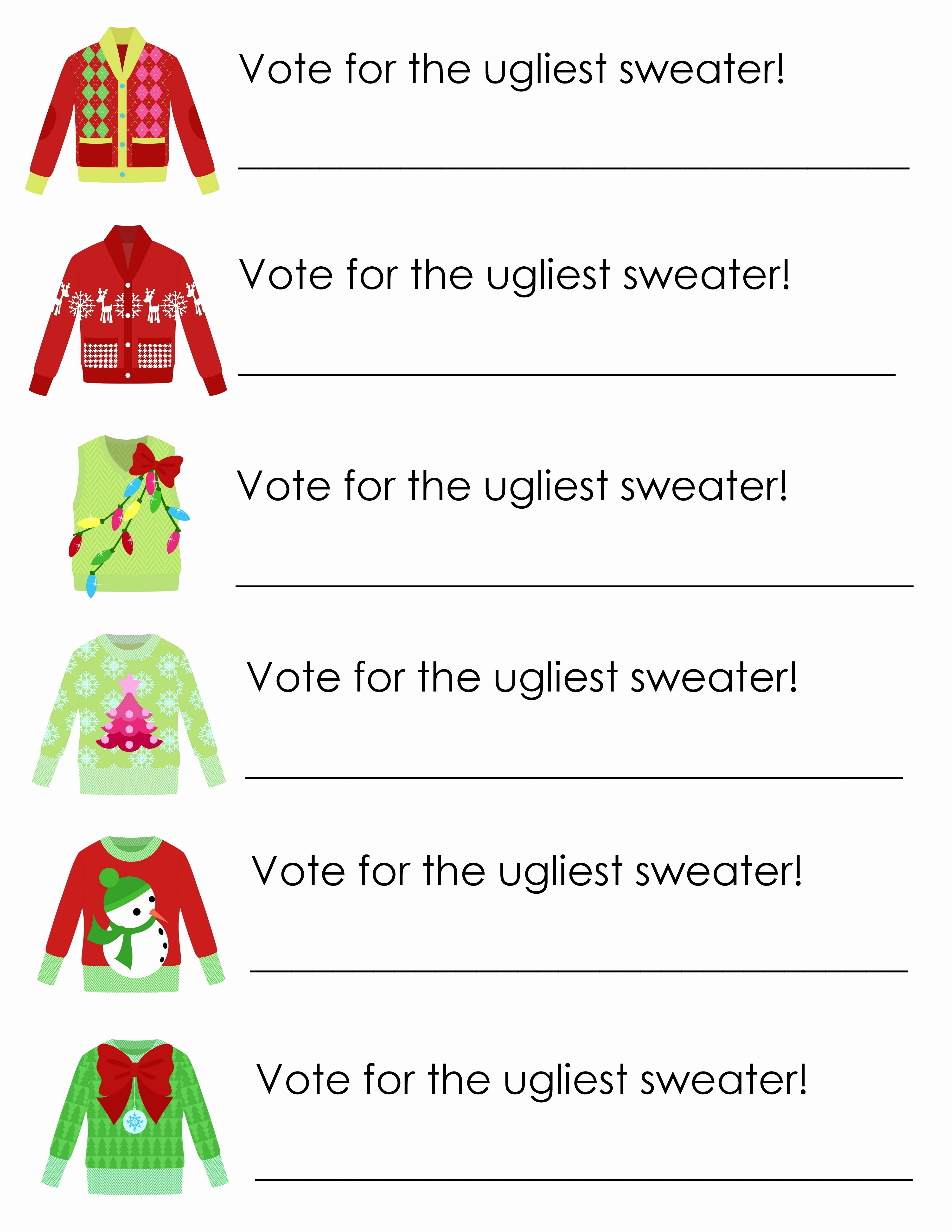 Ugly Sweater Invitation Template Free Inspirational Ugly Sweater Party Free Printables the Country Chic Cottage