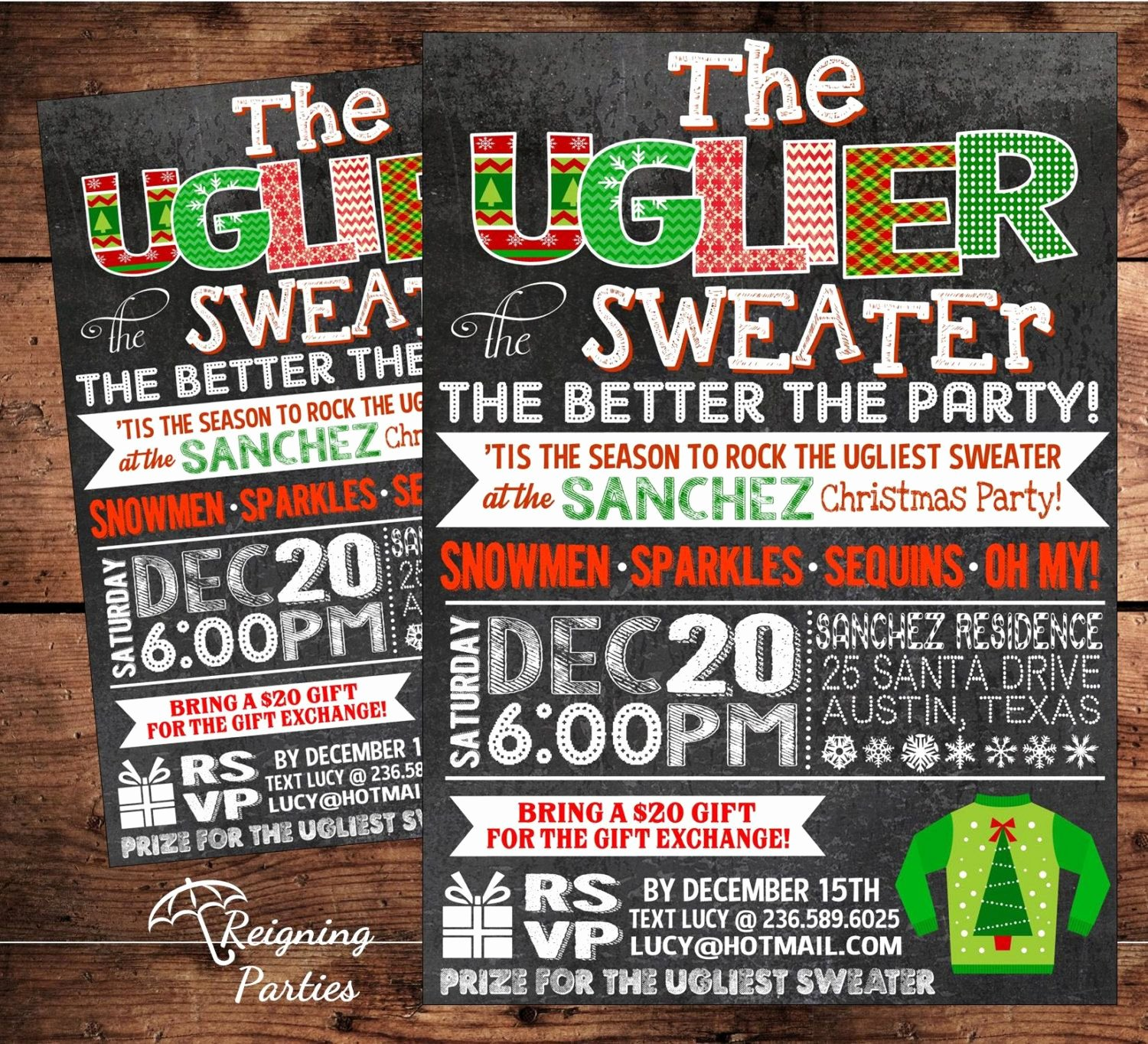 Ugly Sweater Invitation Template Free Lovely Ugly Sweater Party Invitation Template Free Google