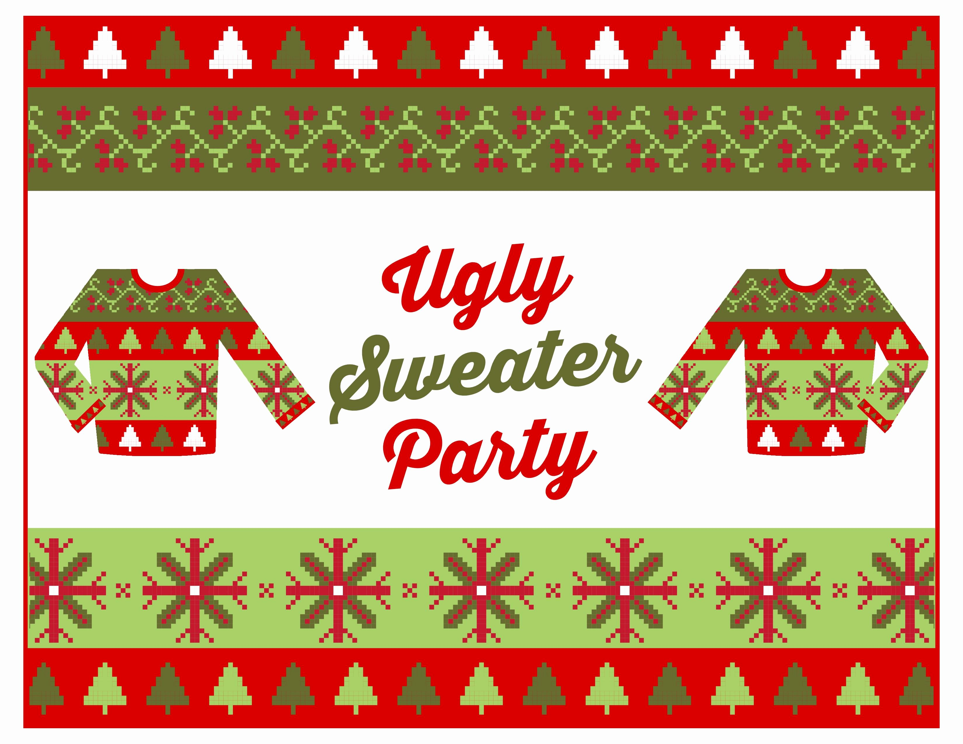 Ugly Sweater Invitation Template Free Luxury Baptism Invitation Ugly Sweater Invitation Template Free