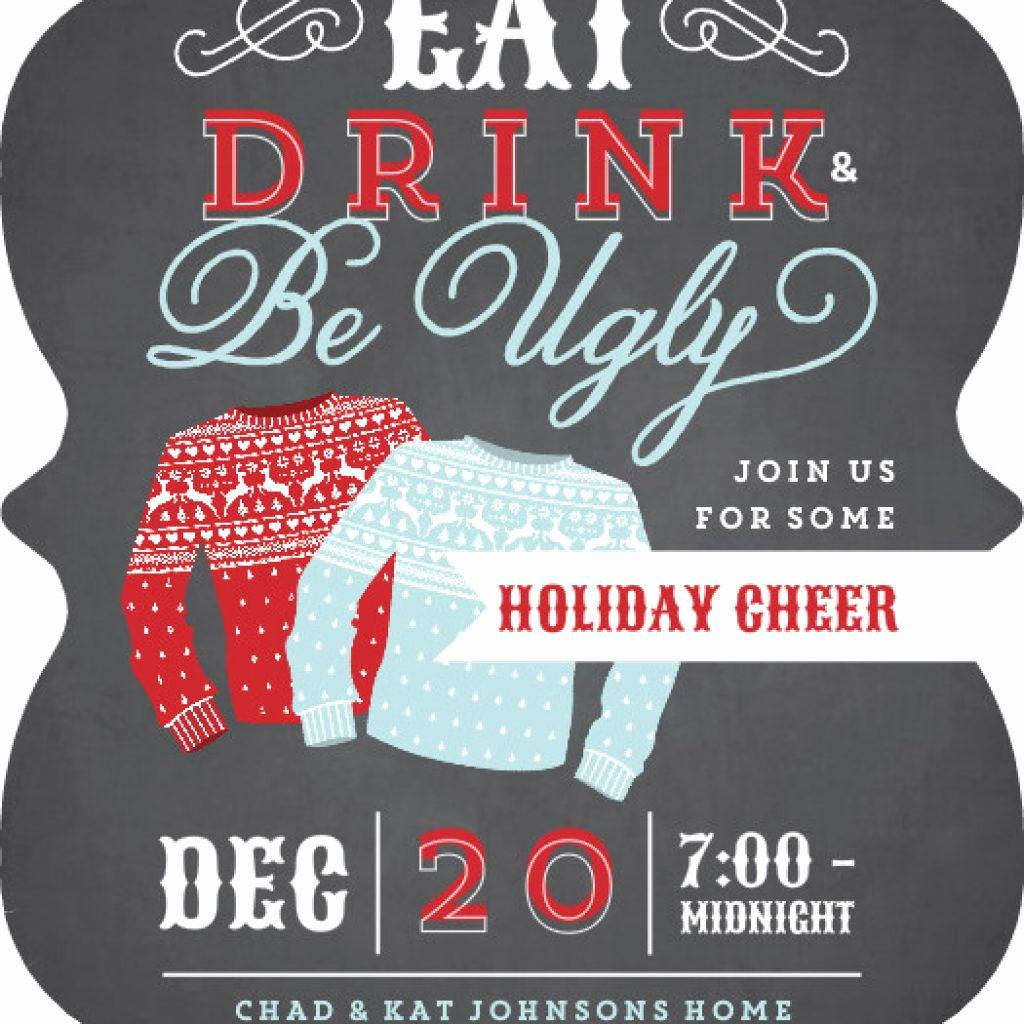 Ugly Sweater Invitation Template Free New Ugly Sweater Invitation Template Free Free Ugly Sweater