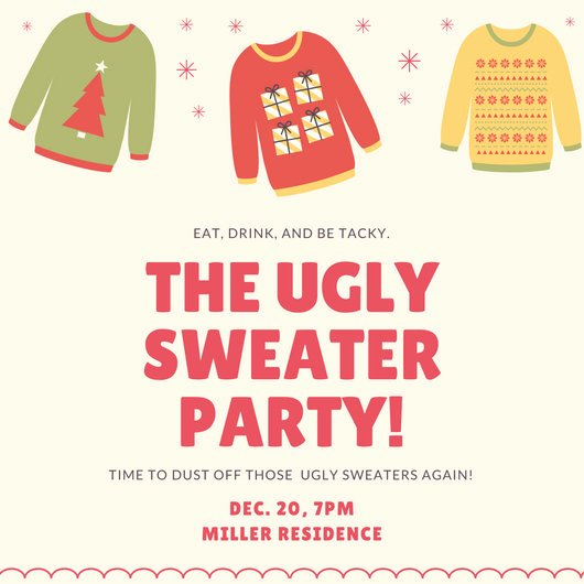 Ugly Sweater Party Invitation Template Free Awesome Red Ugly Christmas Sweater Invitation Templates by Canva