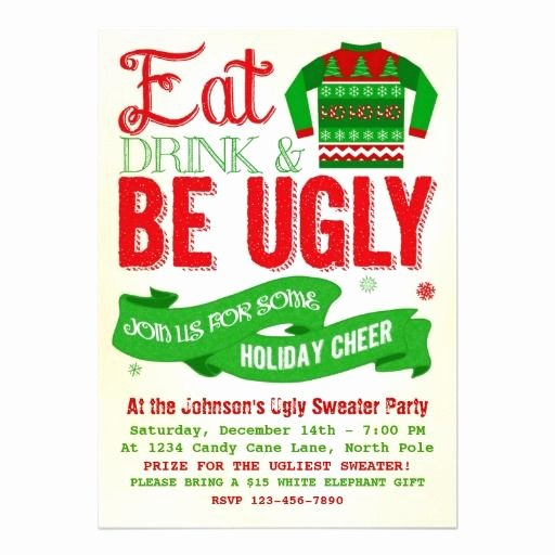 Ugly Sweater Party Invitation Template Free Awesome Ugly Sweater Christmas Party Holiday Invitation