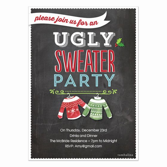 Ugly Sweater Party Invitation Template Free Fresh Holiday Invite Ugly Sweater Party Invitations & Cards On