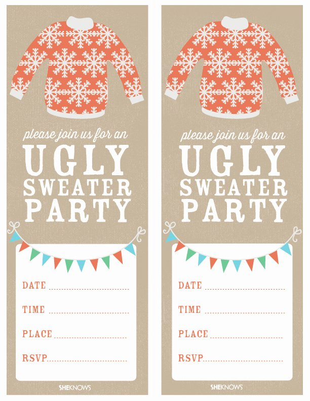 Ugly Sweater Party Invitation Template Free Fresh How to Host An Ugly Sweater Party