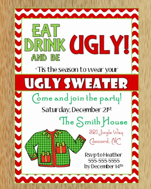 Ugly Sweater Party Invitation Template Free Fresh Ugly Christmas Sweater Invitation 2 On Storenvy