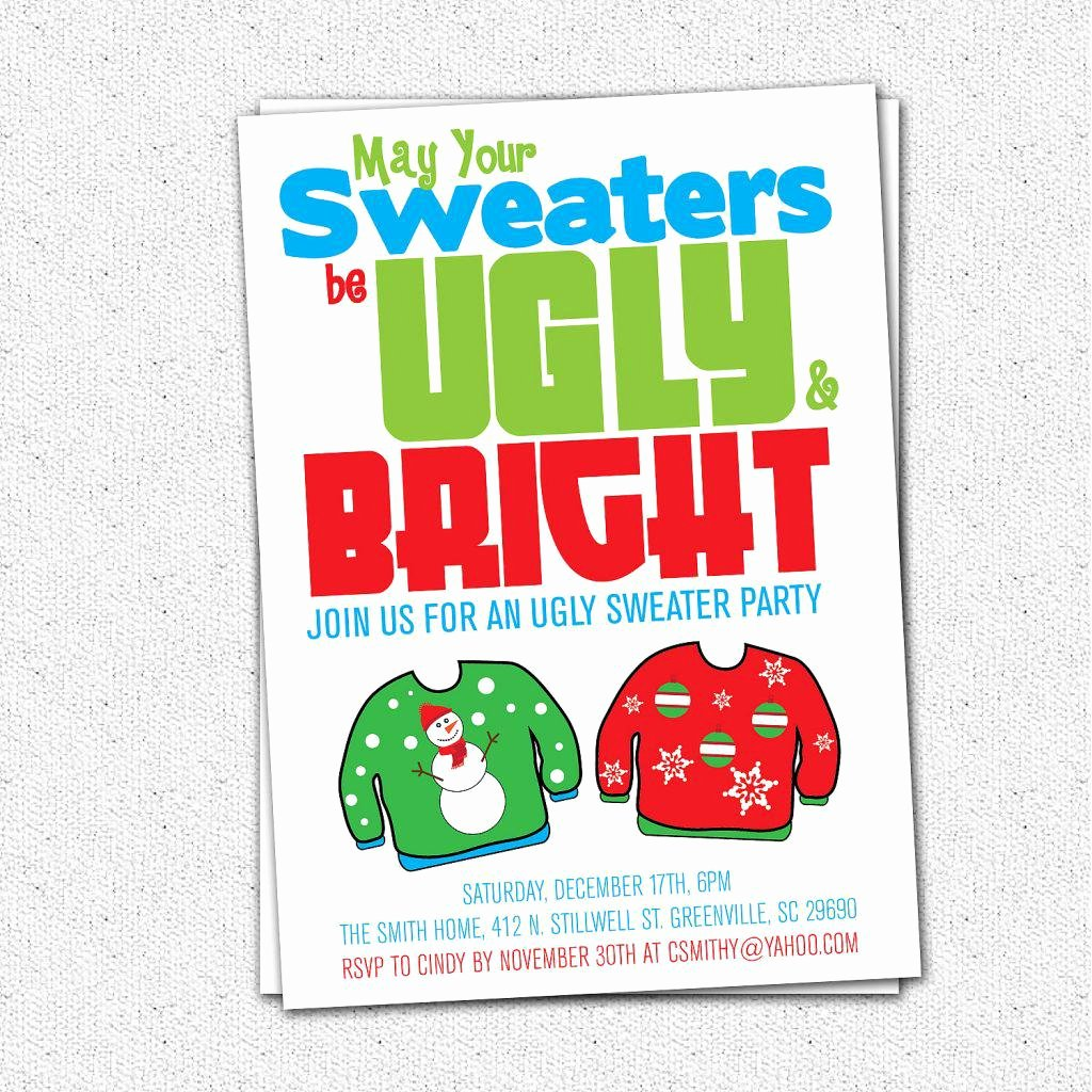 Ugly Sweater Party Invitation Template Free Lovely Baptism Invitation Ugly Sweater Invitation Template Free